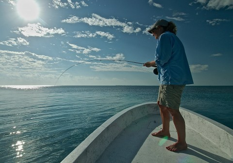 Fly fishing Ambergris Caye,Belize